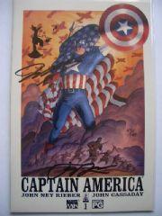 Captain America #1 Dynamic Forces DF Signed & Re-marked COA Ltd 149